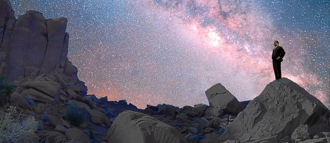 Renovado. Tyson em uma cena do episódio de estreia da nova versão da série 'Cosmos': atualização necessária diante das descobertas dos últimos 34 anos, como a aceleração da expansão do Universo e de planetas extrassolares Foto: Divulgação