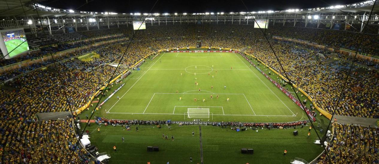 O Maracanã lotado na final da Copa das Confederações. Final da Copa já está com ingressos esgotados Foto: Alexandre Loureiro / AP