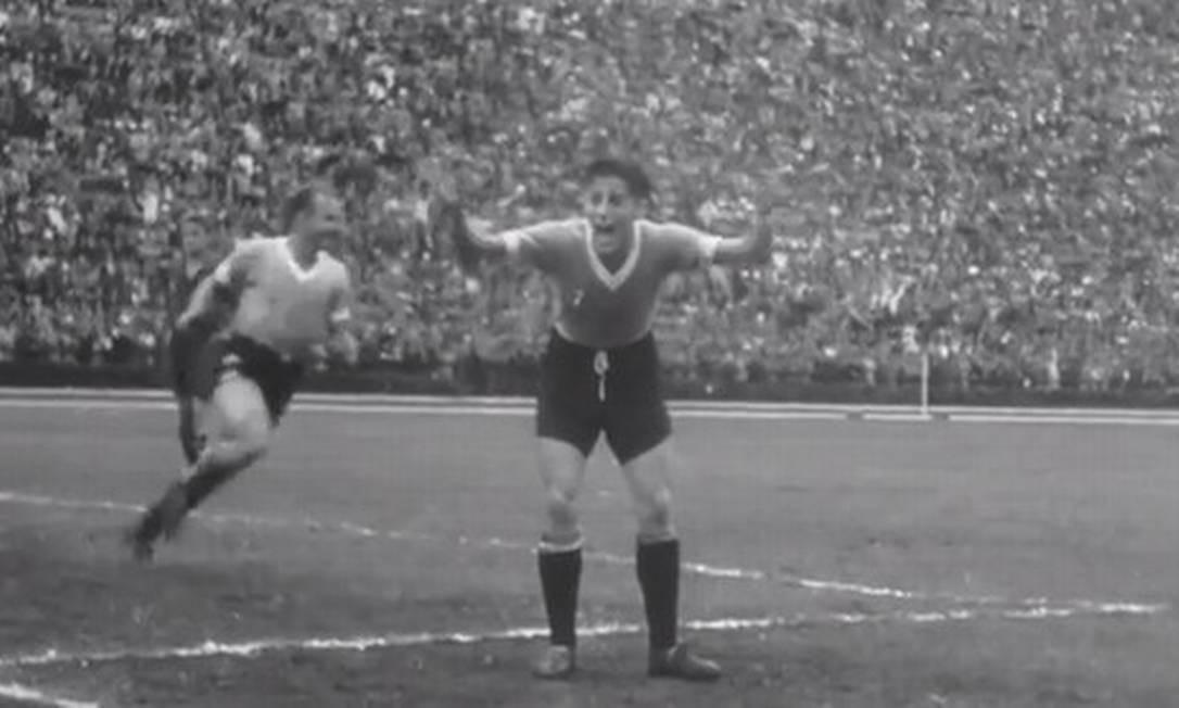A vitória do Uruguai na final em 1950 Foto: Reprodução da internet