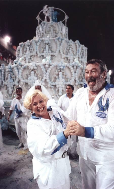 Casal desfilou pela Portela, no carnaval de 1993 Foto: Divulgação