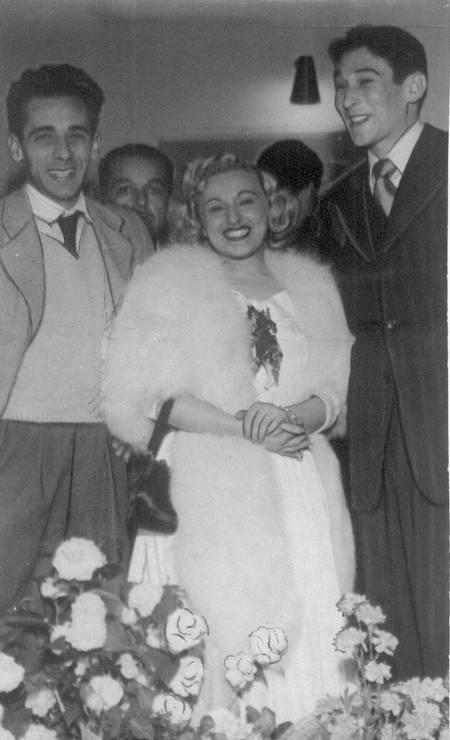O casal em 1954 Foto: Arquivo