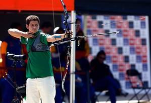 Marcus Vinicius na final do tiro com arco Foto: Javier Valdes Larrondo/Agência Uno/Divulgação