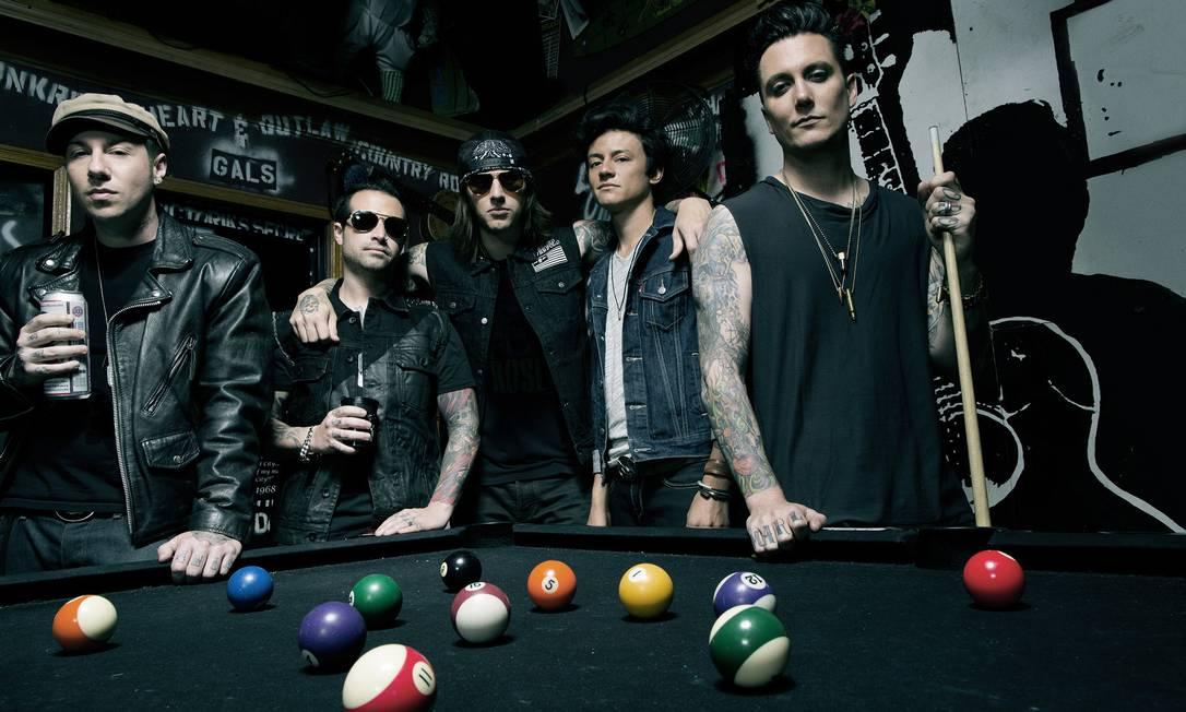 A banda californiana de metal Avenged Sevenfold Foto: Divulgação