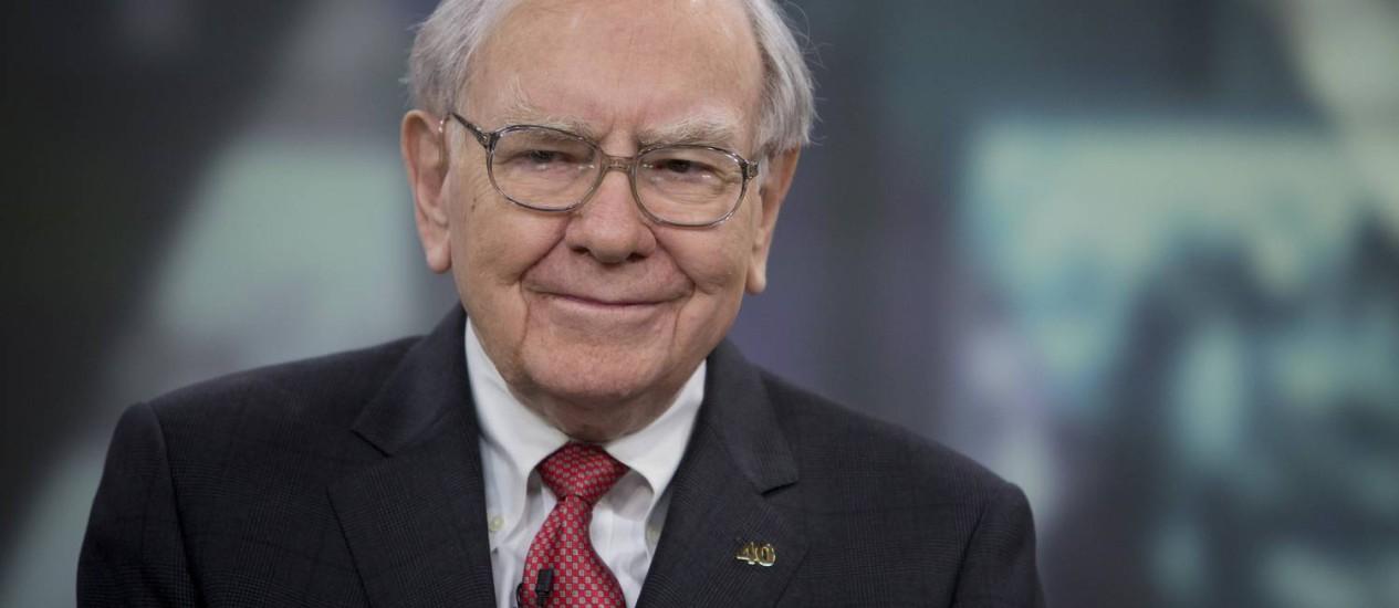 O megainvestidor Warren Buffett, diretor-executivo da Berkshire Hathaway Foto: Scott Eells / Bloomberg