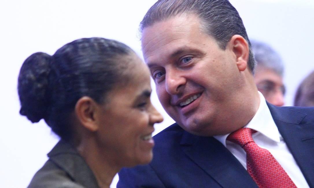 Marina Silva e Eduardo Campos ainda têm que resolver situação eleitoral em São Paulo Foto: André Coelho / O Globo