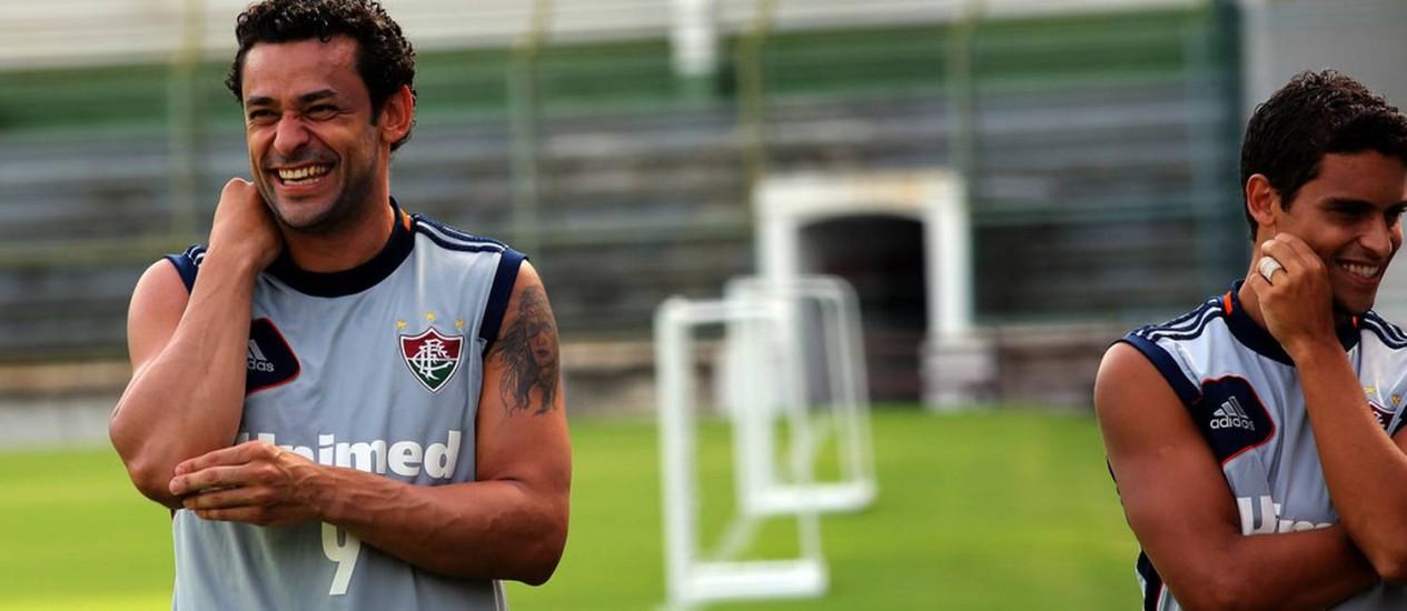 Fred sorri em treino do Fluminense Foto: Divulgação / Fluminense