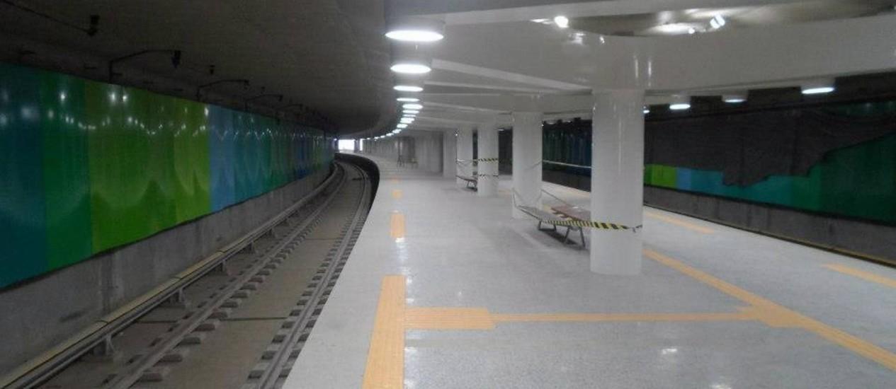 A Estação Uruguai foi construída no trecho do rabicho da Tijuca Foto: Divulgação