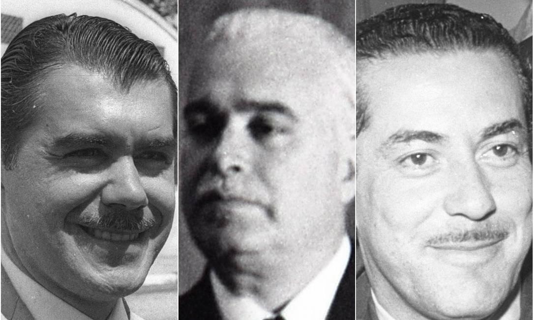 José Sarney, Antonio Carlos Magalhães e Leonel Brizola Foto: O Globo / Arquivo