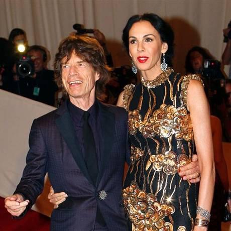 A estilista L'Wren Scott, com o namorado MIck Jagger, líder dos Rolling Stones Foto: Reuters