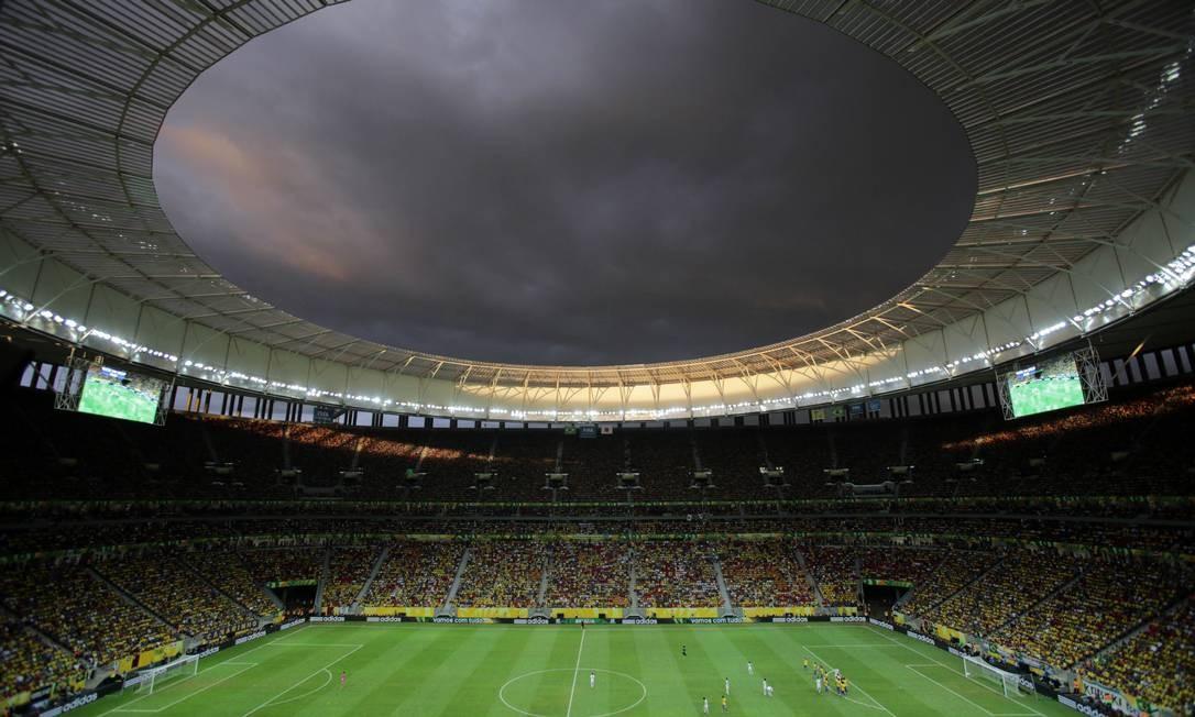 O estádio Mané Garrincha em foto de arquivo Foto: Eraldo Peres / AP