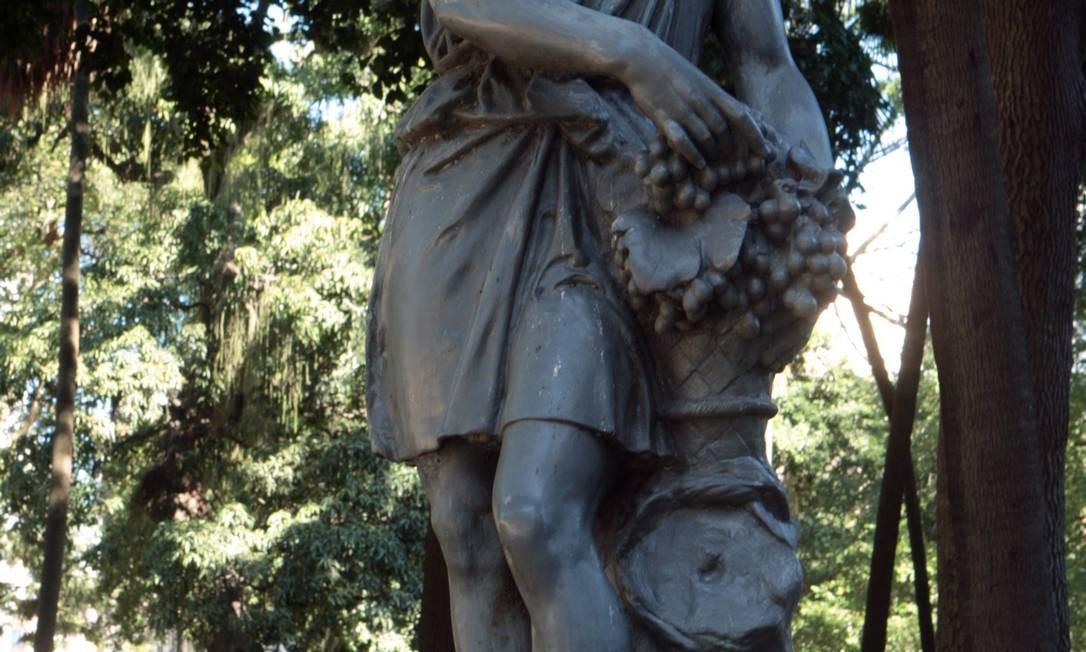 O Passeio, em 2011: Pedro II promoveu uma reforma no parque, em 1864, feita pelo paisagista francês Auguste Glaziou Agência O Globo / Gustavo Stephan