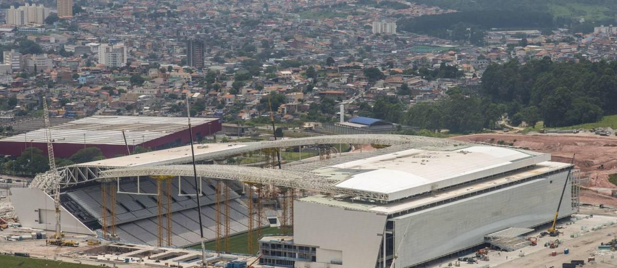 Estádio Itaquerão, em São Paulo, deve ficar pronto no início do mês de maio Foto: Portal da Copa / Divulgação