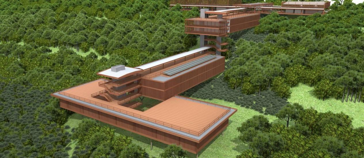 Escola Superior de Conservação Ambiental e Sustentabilidade é um dos atuais projetos com certificado AQUA no Brasil Foto: Divulgação