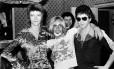 David Bowie com Iggy Pop e Lou Reed em 1972