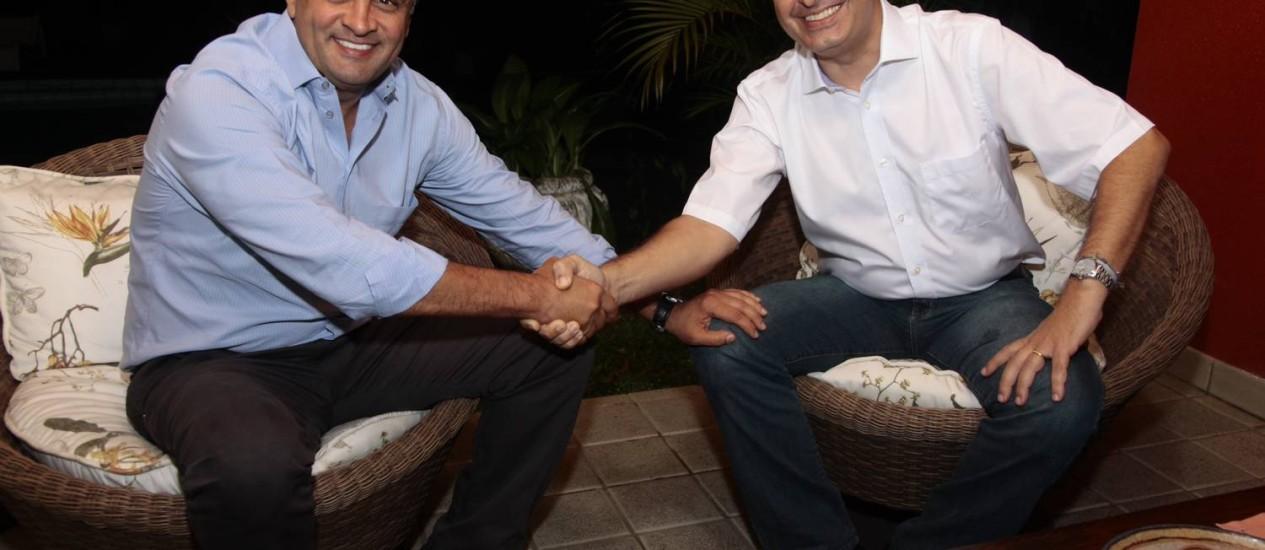 Aécio Neves e Eduardo Campos, pré-candidatos à Presidência Foto: Divulgação - 31/08/2013