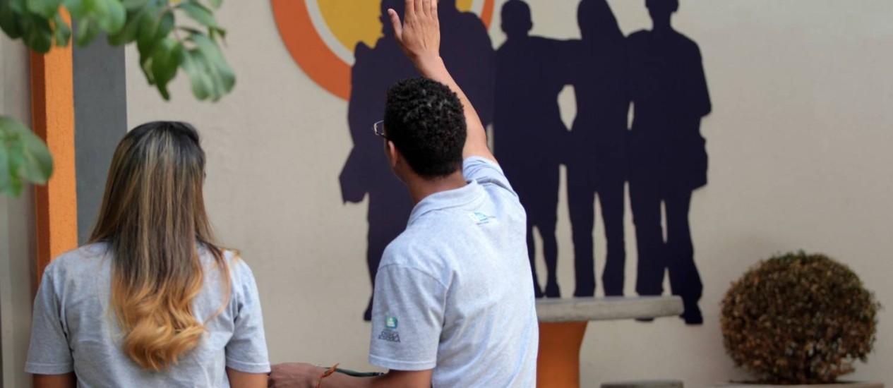 Na Escola Estadual Chico Anisyo, na Tijuca, que funciona em tempo integral, habilidades socioemocionais são trabalhadas, e média no Ideb é superior à da rede Foto: Carlos Ivan / Agência O Globo