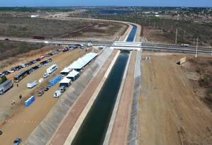 O Eixão das Águas, em Fortaleza, cuustou R$ 1, 5 bilhão e levou 12 anos para ficar pronto Foto: Divulgação