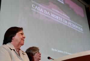 Inês Etienne Romeu, única sobrevivente da Casa da Morte, participa de audiência pública da Comissão Nacional da Verdade no Rio Foto: Pedro Kirilos / O Globo