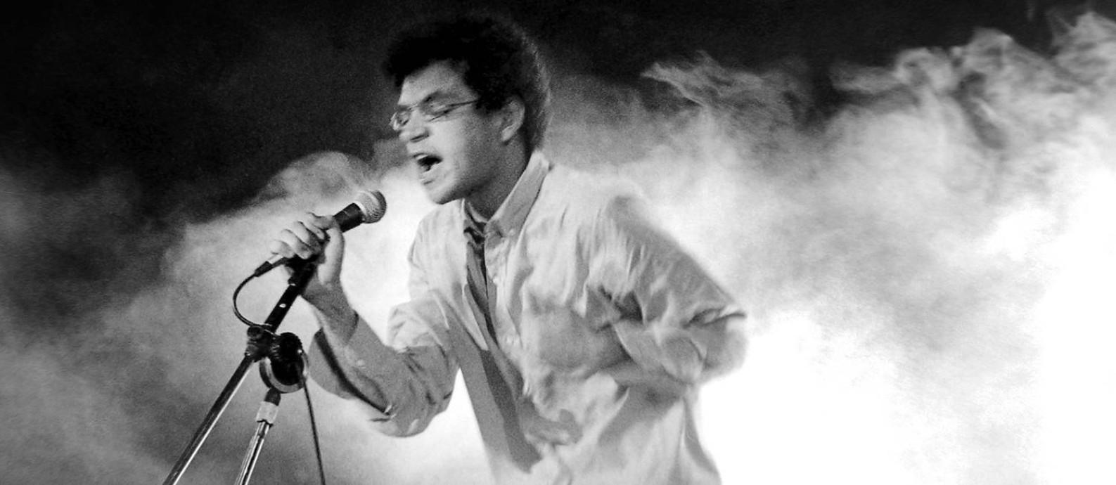 Foto de Renato Russo em show na Bahia, em 1987 Foto: Divulgação/ Ricardo Junqueira