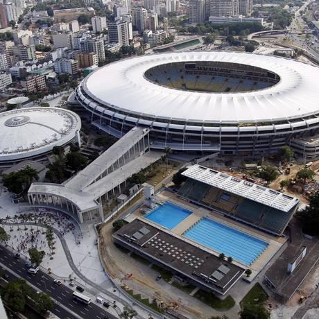 Vista aérea do complexo do Maracanã Foto: Cezar Loureiro / O Globo
