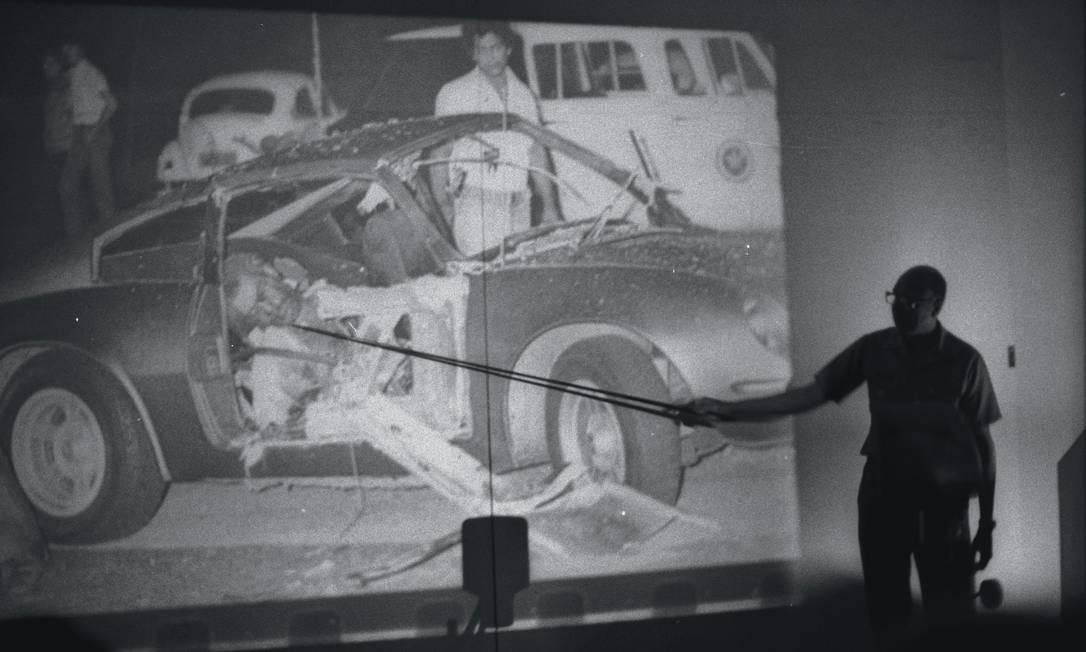 Sargento morto e capitão ferido foram considerados vítimas de um atentado de esquerda pela Justiça Militar Foto: Anibal Philot / Arquivo O Globo - 30/06/1981