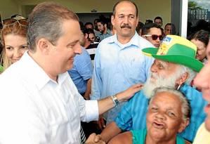No último final de semana como governador, Campos elogia Bolsa Família Foto: Hans von Manteuffel