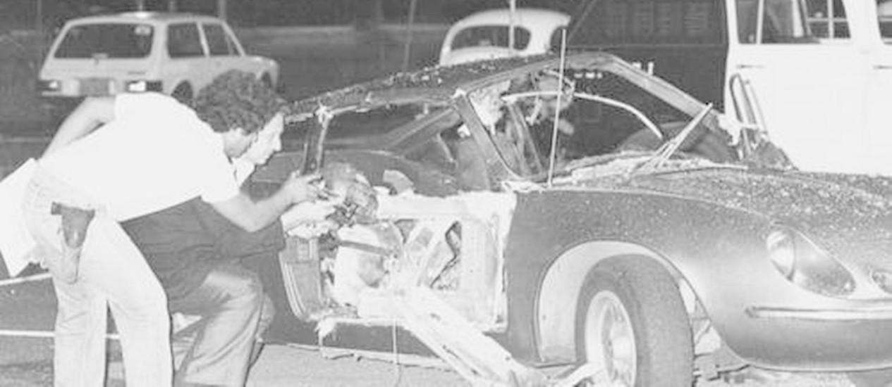 Bomba foi detonada dentro do Puma no Riocentro, na noite de 30 de abril de 1981 Foto: Anibal Philot / Arquivo O Globo