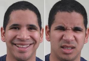 Computador conseguiu mapear até expressões para emoções complexas ou aparentemente contraditórias, como 'feliz aborrecido' ou 'triste com raiva' Foto: Divulgação/ Universidade do Estado de Ohio