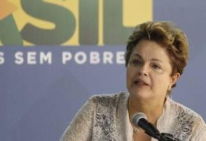 Presidente Dilma chegou a se emocionar ao lembrar dos exilados políticos durante discurso na manhã desta quarta Foto: Pablo Jacob / Agência O Globo