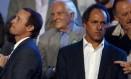 "Governador Scioli (à direita) disse que ""delinquentes estão dispostos a tudo"" Foto: Reuters / MARCOS BRINDICCI"