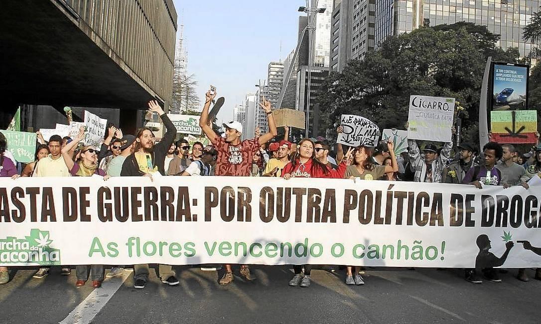 Marcha da maconha. Fracasso da política de 'guerra às drogas' é um dos argumentos a favor da legalização Foto: Juliana Spinola/Demotix/Corbis