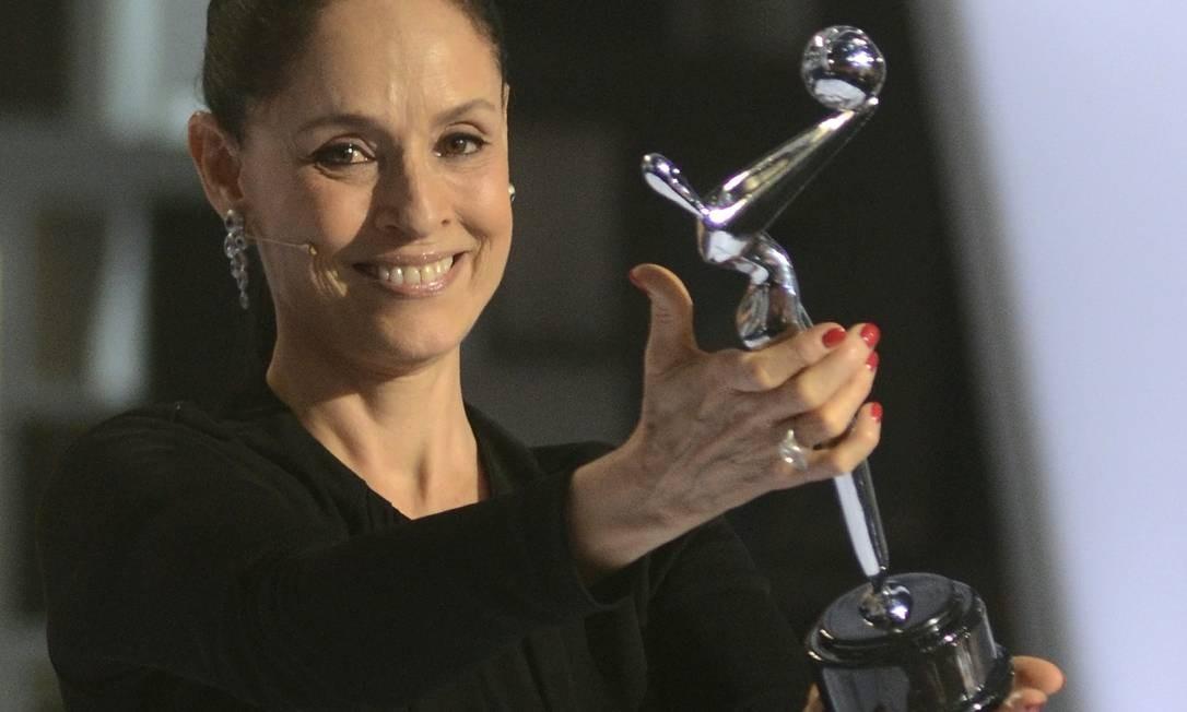 Sonia Braga recebe prêmio em homenagem à sua carreira no Panamá Foto: STRINGER / REUTERS