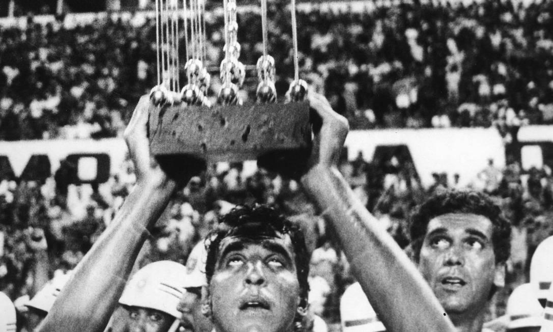 Comemoração do Sport Clube pela conquista do Campeonato Brasileiro no ano de 1987 Foto: Agência O Globo
