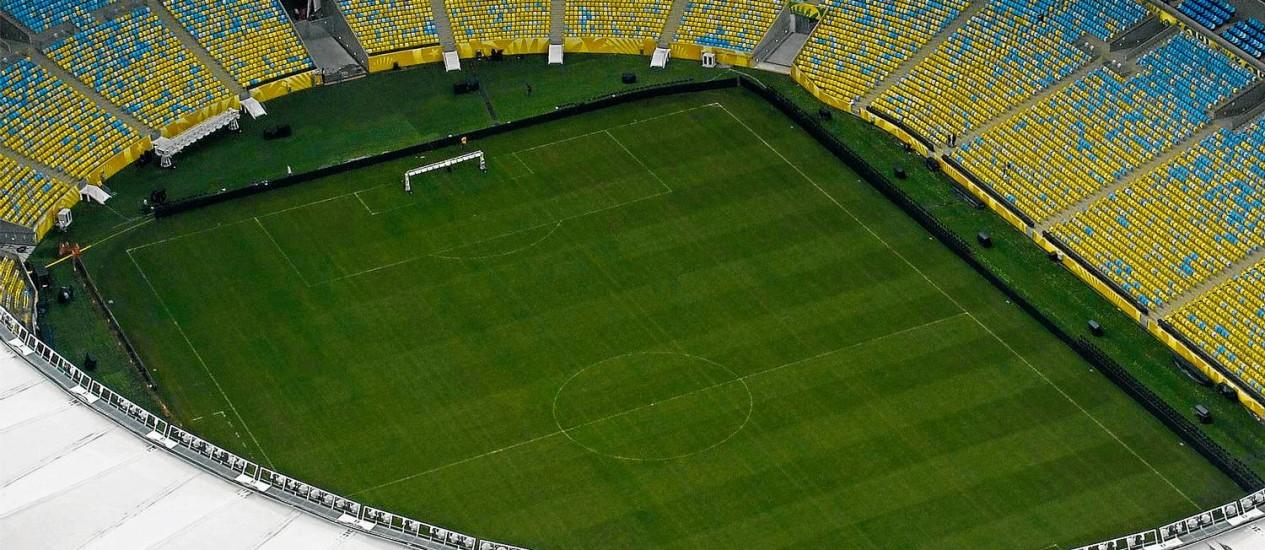 Vista aérea do Maracanã, local da final da Copa do Mundo Foto: Genílson Araújo / Agência O Globo