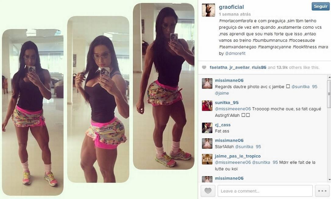 Gracyanne Barbosa, expert em fitness, mostra seu bumbum de todos os ângulos Foto: Reprodução