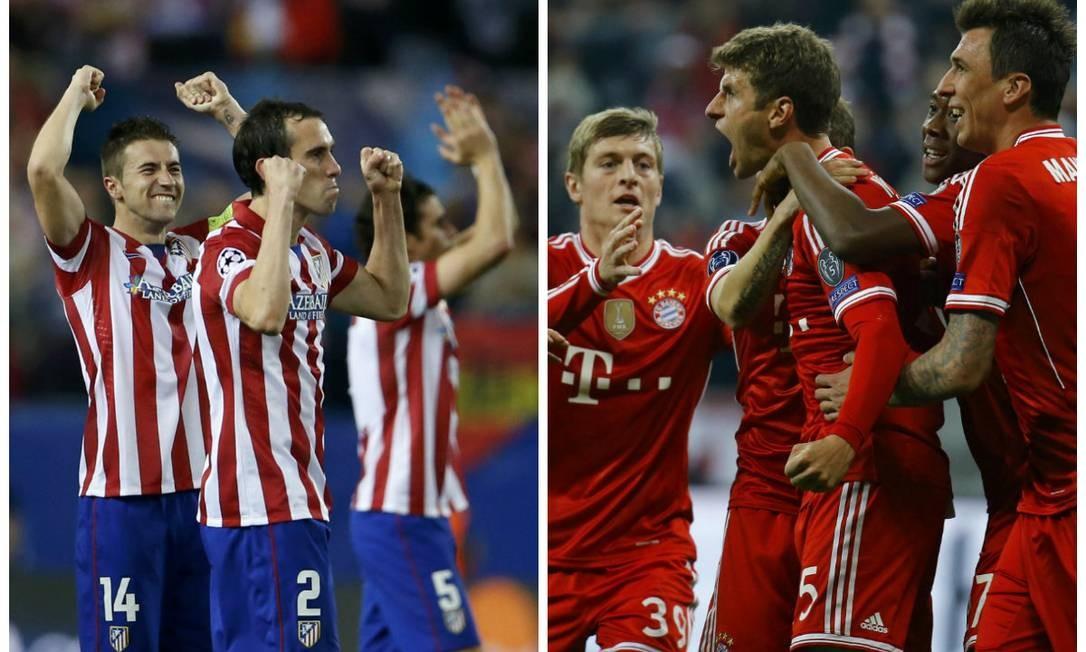 Atlético de Madrid e Bayern: classificados para a semifinal da Liga dos Campeões, junto com Chelsea e Real Madrid Foto: Reuters