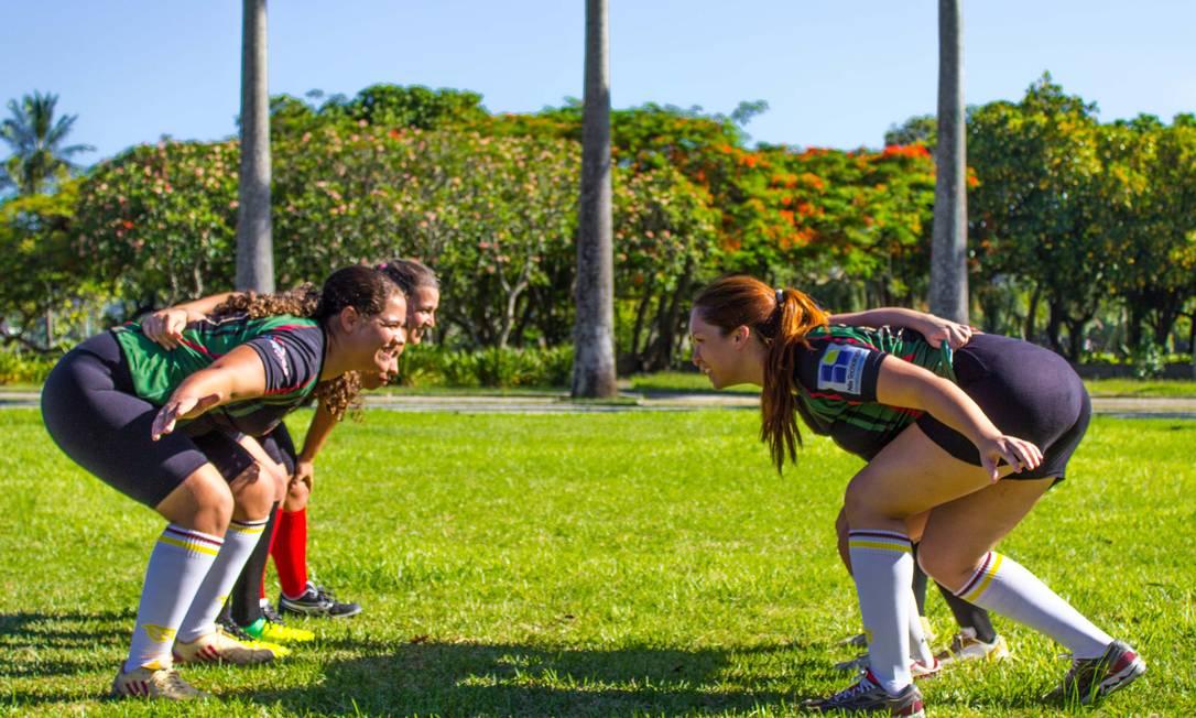 O Tijuca Rugby em treino no Aterro do Flamengo Foto: Thompson Stellet / Divulgação