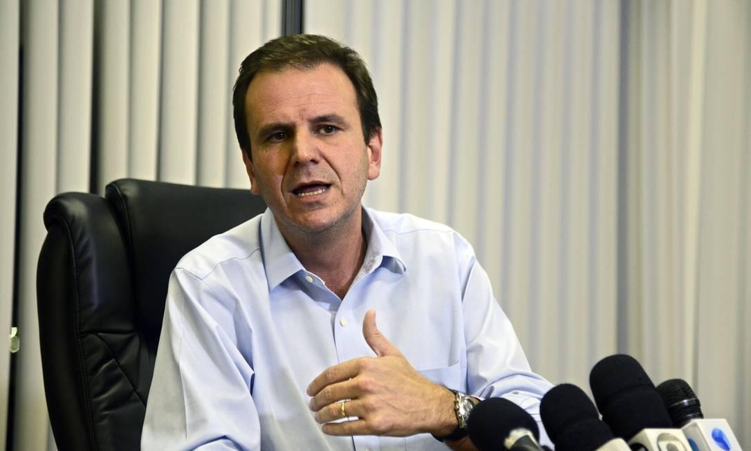 Prefeito Eduardo Paes dá coletiva sobre Olimpíadas Foto: J.P.Engelbrecht / Divulgação