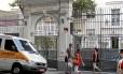 A fachada do Liceu Franco-Brasileiro, que registrou um caso de desmaio em que um aluno bateu com a cabeça e sofreu escoriações
