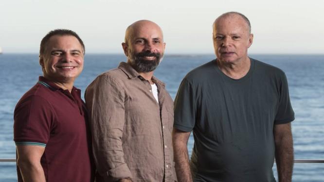 Os autores Ricardo Linhares, João Ximenes e Gilberto Braga Foto: Daniela Dacorso