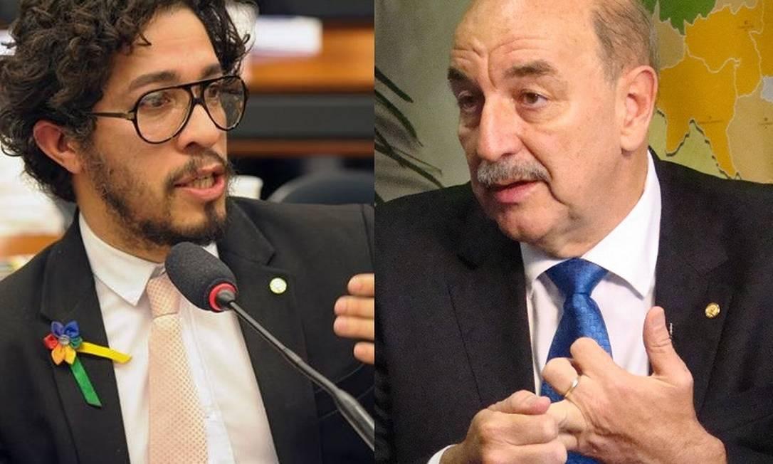 Duas faces da mesma moeda: Jean Wyllys (à esquerda) e Osmar Terra Foto: / Divulgação