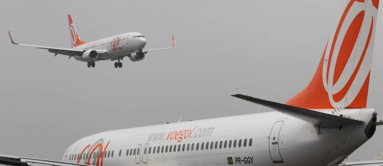 Aviões da companhia aérea Gol Foto: Michel Filho / Michel Filho
