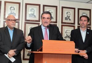 O ministro José Eduardo Cardozo, diz que não houve apreensão na Petrobrás Foto: Givaldo Barbosa / O Globo