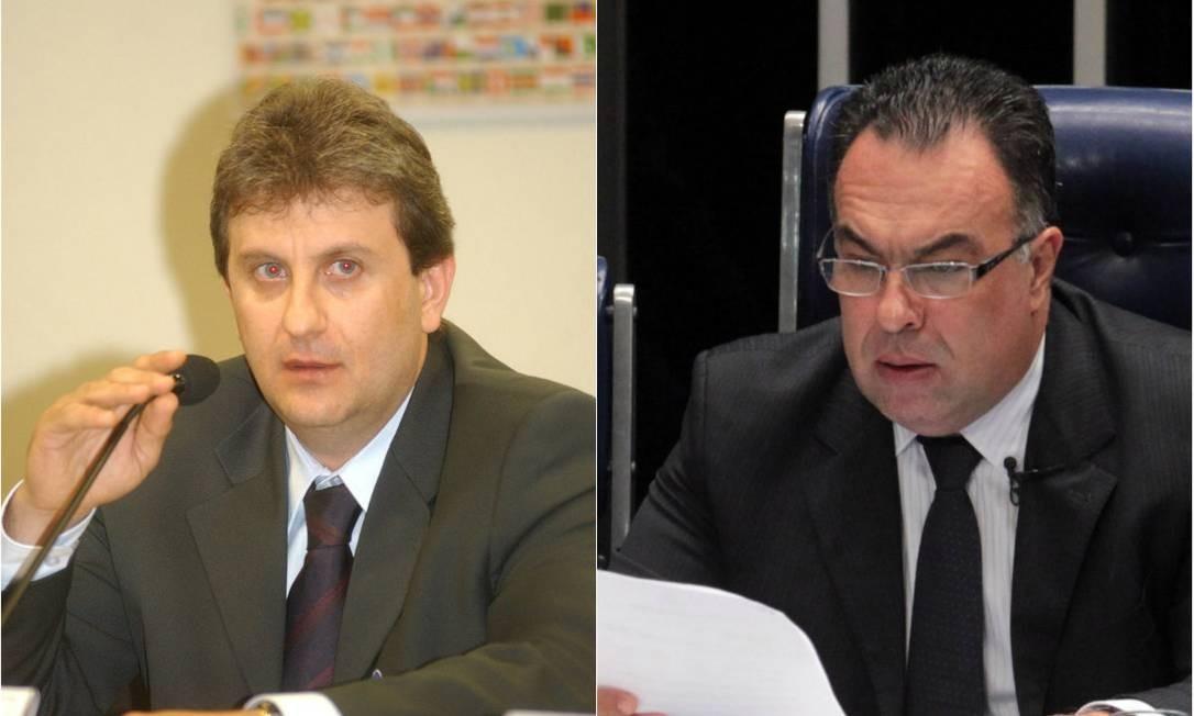 Alberto Youssef e André Vargas Foto: Montagem: O Globo e Agência Senado