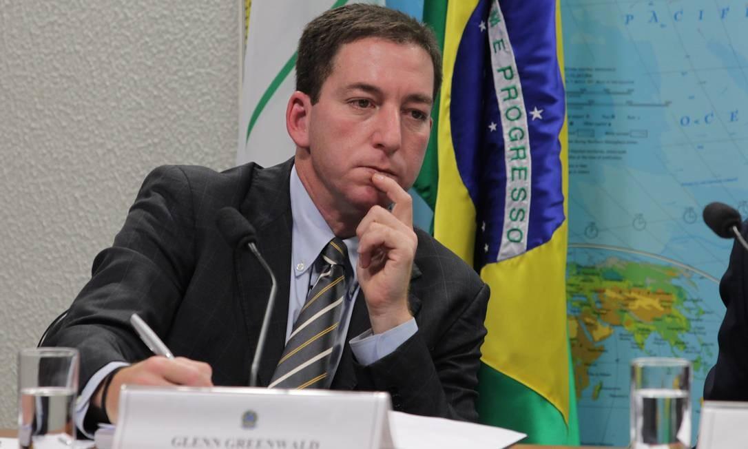 Glenn Greenwald em depoimento na Comissão de Relações Exteriores do Senado brasileiro: trabalho premiado com o Pulitzer Foto: Ailton de Freitas/06-08-2013
