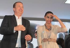 Eduardo Campos e Marina silva lançam chapa do PSB à Presidência Foto: Givaldo Barbosa / O Globo