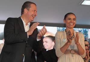 Marina Silva e Eduardo Campos Foto: Givaldo Barbosa / Agência O Globo