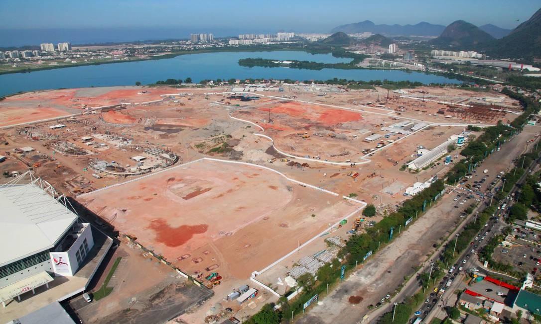 RI Rio de Janeiro (RJ) 09/04/2014 Parque Olímpico em obras no Rio de Janeiro. Foto Genilson Araújo / Parceiro / Agência O Globo Foto: Parceiro / Genilson Araújo