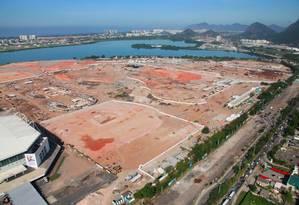 Parque Olímpico: obras ficaram paradas por uma semana Foto: Genilson Araújo / Parceiro