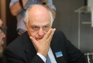 o ex-ministro e pré-candidato do PSDB ao governo de Minas Gerais, Pimenta da Veiga Foto: Eugenio Moraes/Hoje em Dia